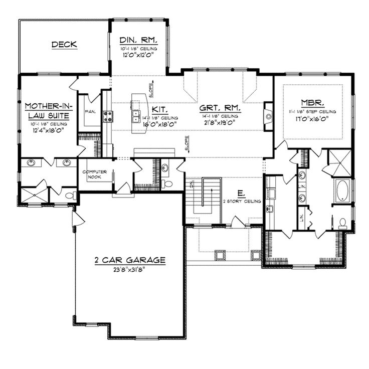 E european house plan first floor 051d 0727 from for House plans and more com home plans