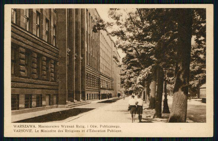 Pocztówka: Warszawa, Ministerstwo Wyznań Relig. i Ośw. Publicznego Varsovie, Le Ministère des Religions et d`Education Publique (post 1927)
