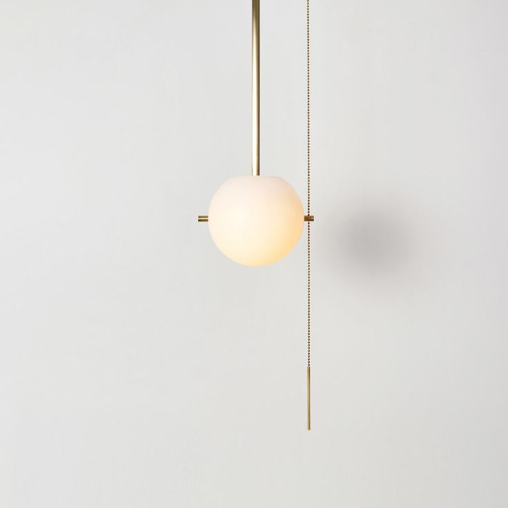 WORKSTEAD launched a collection of minimalist lighting that features globes secured by metal pins to a metal canopy giving an almost hieroglyphic look.