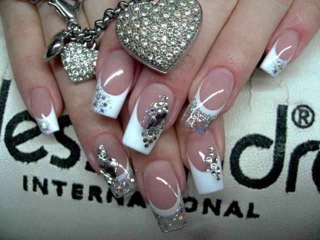 Bling nails..LOVE the french mani ... - 25+ Best Bling Nail Art Ideas On Pinterest Bling Nails, Nail