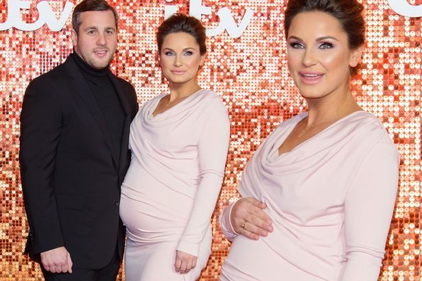 Pregnant Sam Faiers is positively glowing as she poses on ITV Gala red carpet with husband Paul - Mirror Online