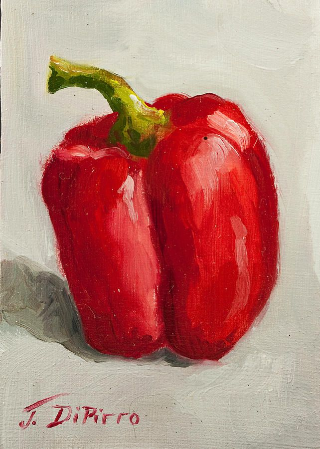 Red Bell Pepper Painting