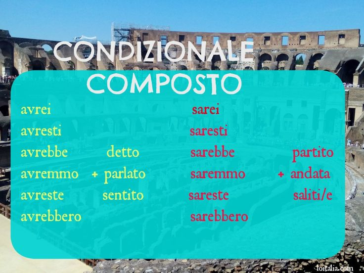 Advanced verbal forms for serious learners   Lesson of Italia