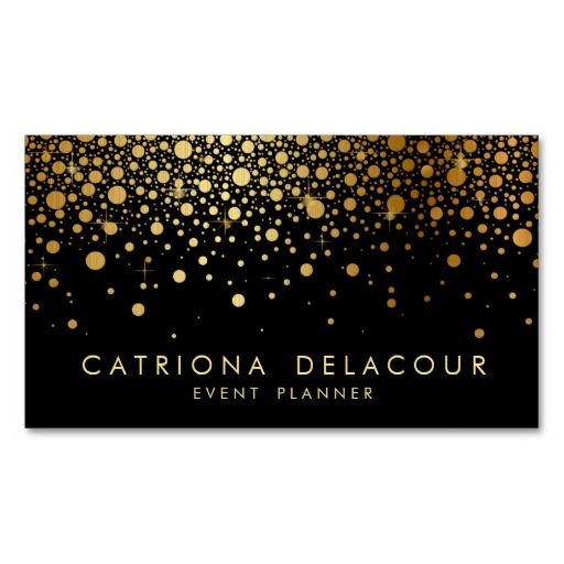 307 best interior designer business cards images on pinterest faux gold foil confetti business card black reheart Gallery