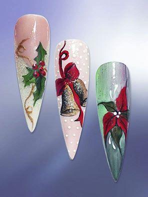 Christmas nail designs !!!                                                                                                                                                                                 More