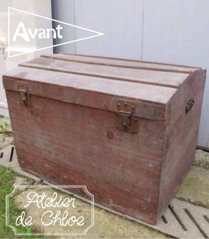 Les 25 meilleures id es de la cat gorie malle ancienne sur pinterest valise - Renover une vieille malle ...