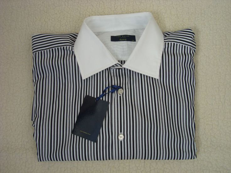 Ted Baker London archive long sleeve shirt with stripes 17.5 size