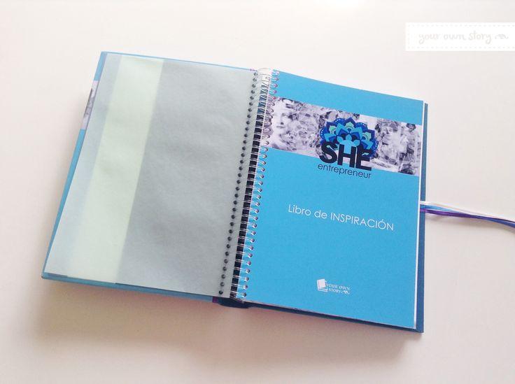 Portada del Libro de Inspiración para She Entrepreneur, para que las emprendedoras dejen sus datos y dedicatorias.  Entrá a la web para ver los demás que realizamos http://www.milibrodefirmas.com/