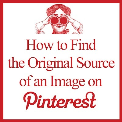 How to find the original image source on pinterest