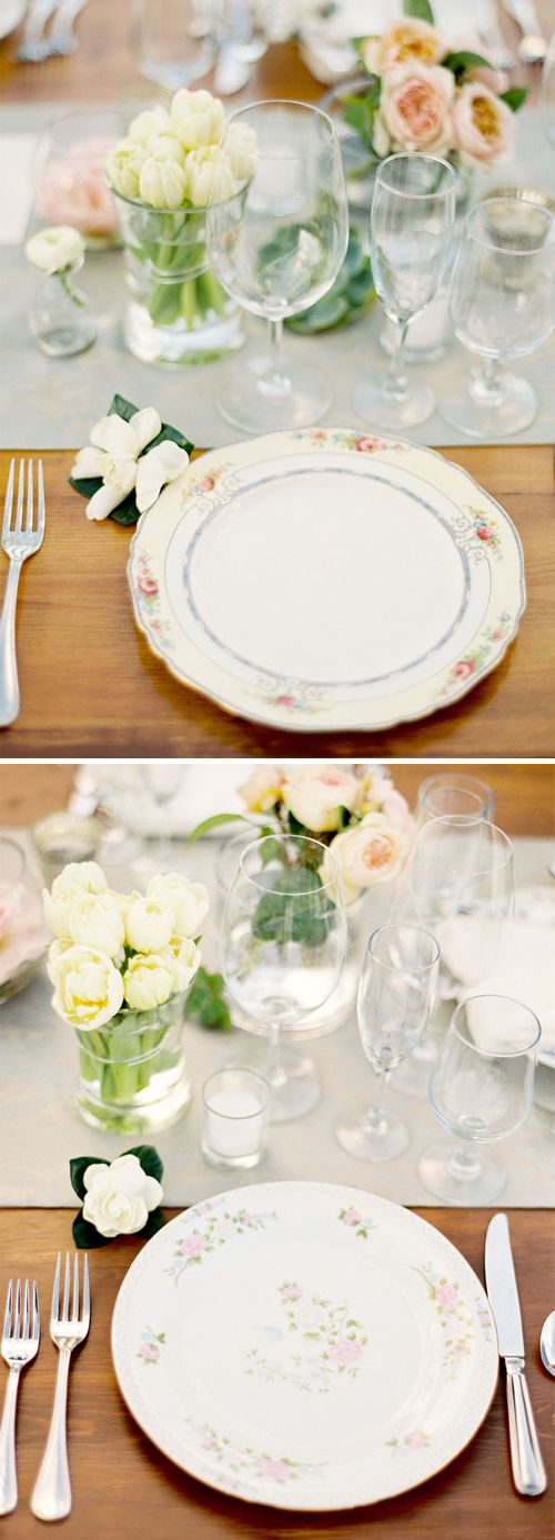 various china: Table Settings, Mismatched Table Setting, Pretty Tables, Dream Wedding, Tablescape, Imaginary Wedding, Elegant Wedding