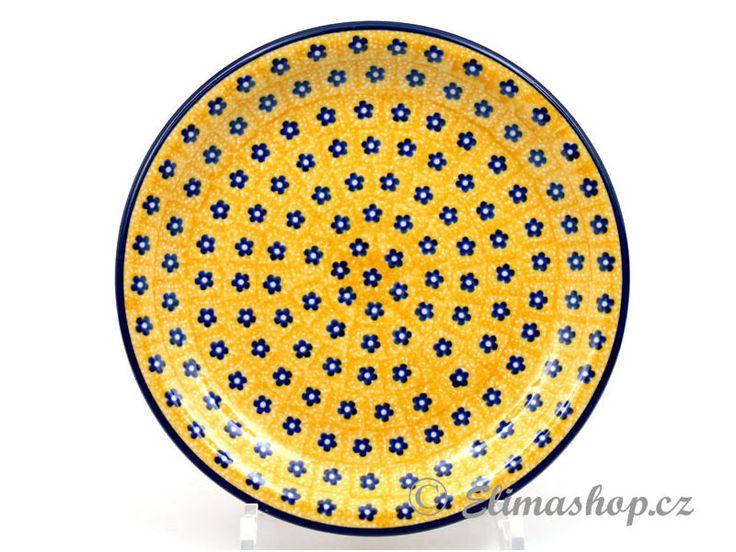 "Dessert plate 21cm (8"") - *** ELIMAshop.cz *** Handmade Polish Pottery from Boleslawiec . Bunzlauer keramik . ceramics . stoneware . ELIMAshop.cz , shipping worlwide . Artystyczna ."