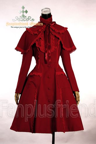 made by tender fleece, lined; light Autumn Lolita trench; detachable cape; laces decorations in cape, collar, pockets and front chest part; pockets in both sides; detachable bowknot back; standard length: knee length for average height;