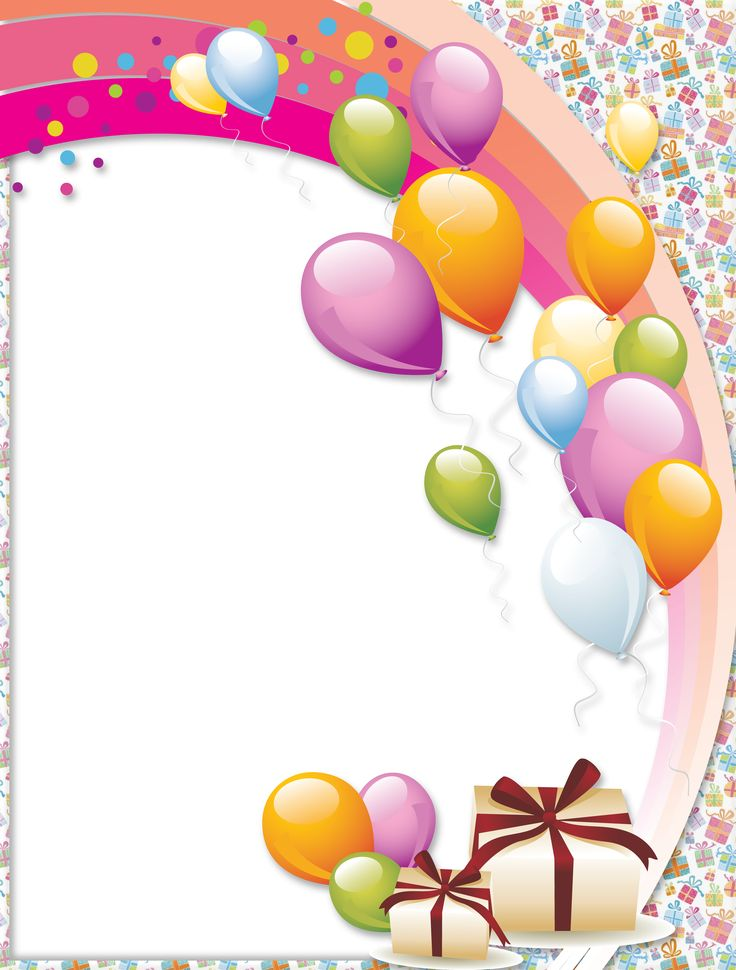 Transparent Birthday Frame