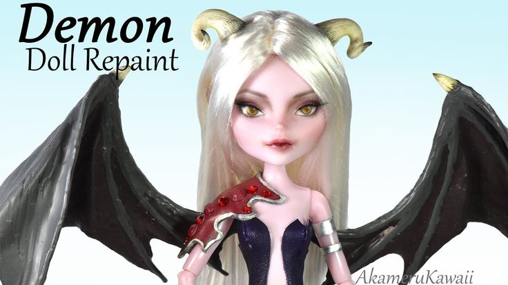 Demon Doll Repaint - Succubus inspired Doll Tutorial