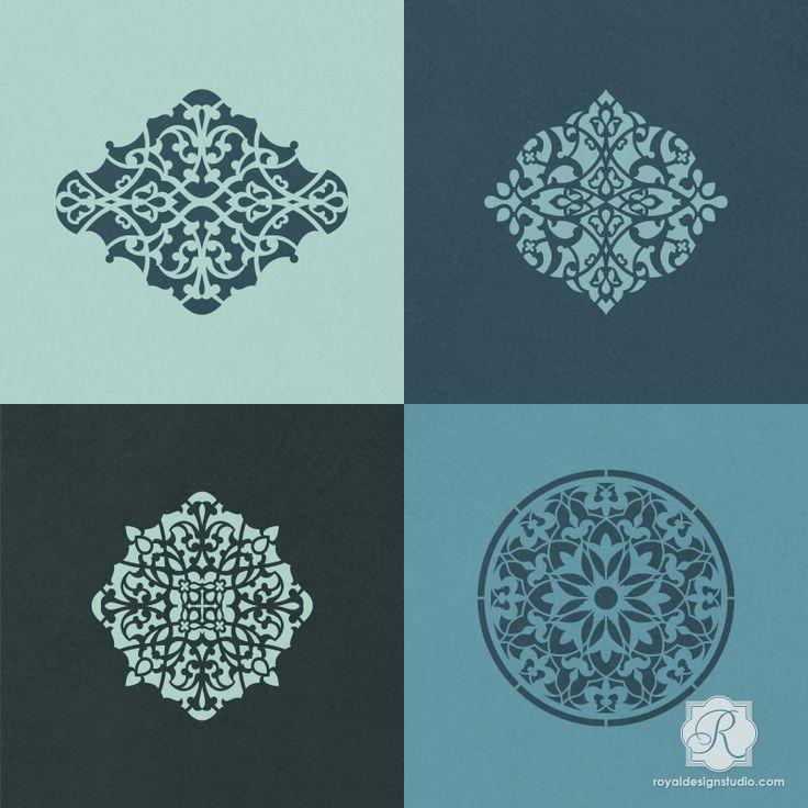 Arabesque Ornament Craft Stencil Set Stencil Designs
