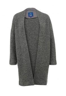 Кардиган Tom Tailor, цвет: серый. Артикул: TO172EWFWX14. Женская одежда / Джемперы и кардиганы