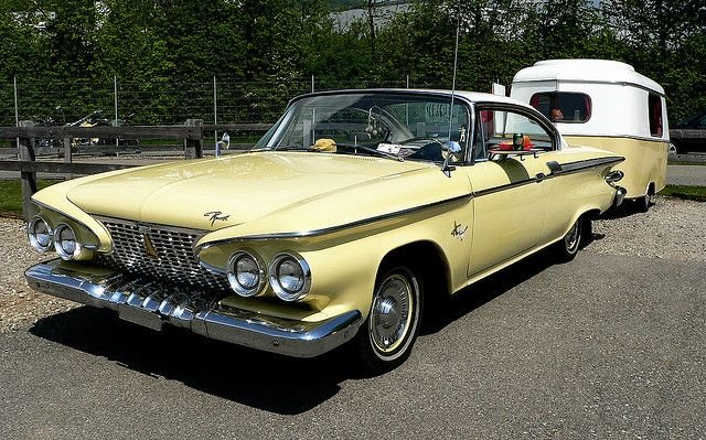 1961 Plymouth Fury and matching trailer
