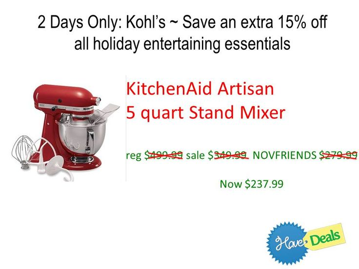 55 best search coupons have deals images on pinterest coupons 2 days only kohls coupon code with our stackable code get this kitchenaid mixer fandeluxe Choice Image