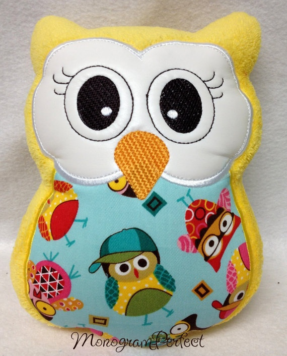 Plush Stuffed Owl Reading Buddy Soft Toy Pillow by MonogramPerfect,   USD19.99 CONNIE Pinterest ...