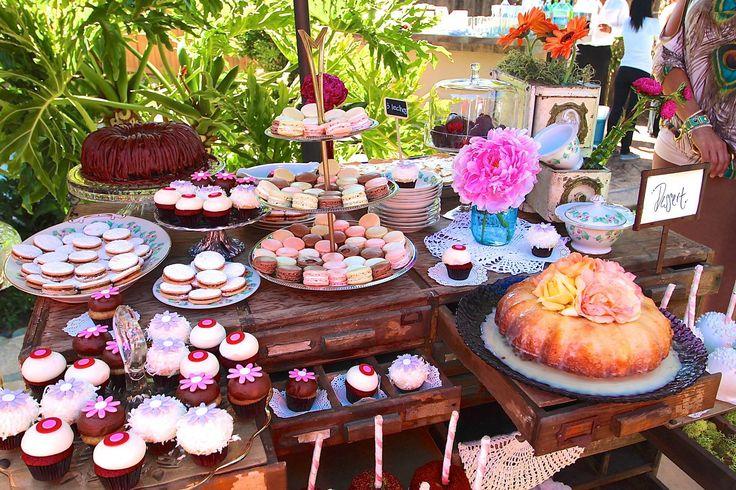 dessert table, macaroons, sprinkles, peonies, mason jars, vintage, lauren sharon vintage rentals,