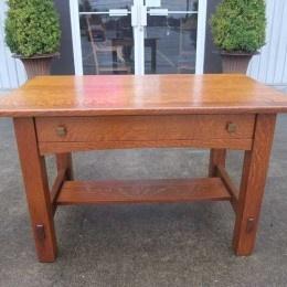 Antiques By Design   Limberts Quartered Oak Mission Library Table / Desk