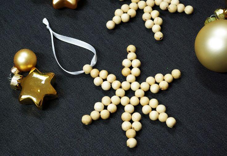 Perlensterne basteln Anleitung kostenlos fertig 7