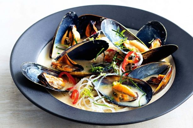 This speedy gluten-free, Asian-inspired meal of mussels, creamy coconut milk and noodles is ready in 20 minutes!