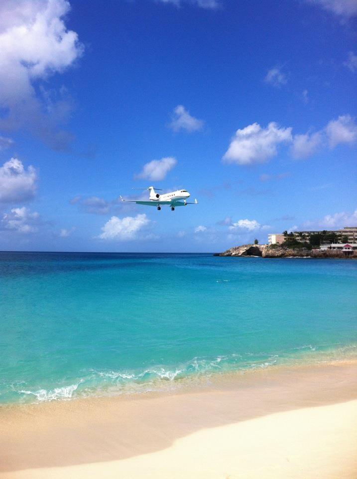 Gulf Stream jet. St Maarten 2012