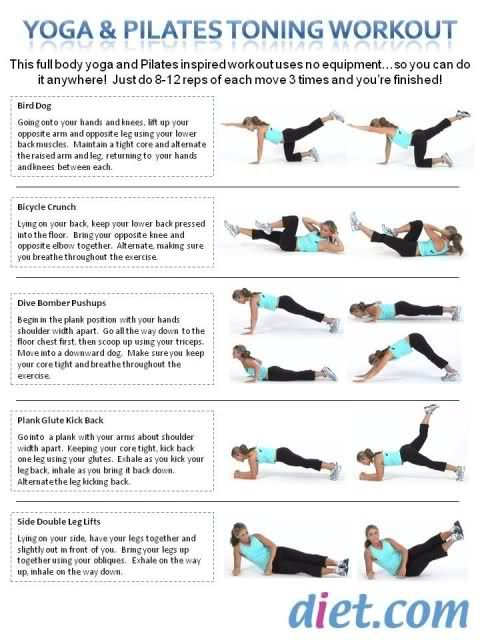 Yoga & Pilates Toning Workout - seems easy enought to memorize