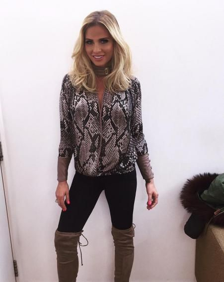 Katie sports a trendy dip-dye hairstyle for her Loose Women appearance [Katie Price/Instagram]