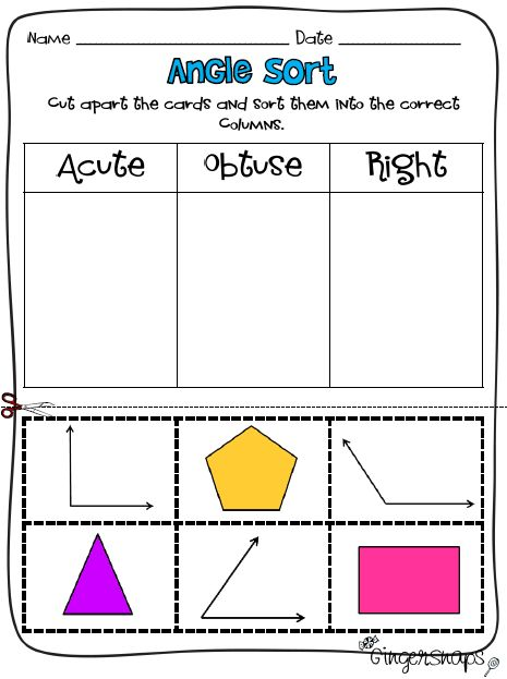 Don't be OBTUSE, print yourself ACUTE angle worksheet like this, RIGHT?