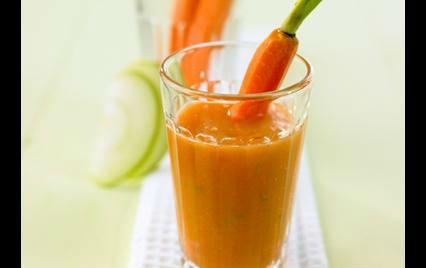 carrots-avocado-lemon smoothie
