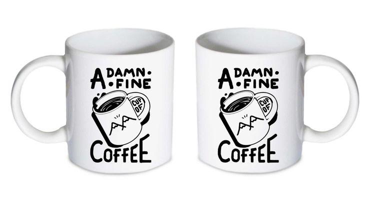 Coffee mug - Twin Peaks Damn Fine Cup of Coffee 2 Mug - Custom Coffee mug - Ceramic mug by babydragonshop on Etsy   #mug #harry #potter #mugs #cups #coffee #tea #hot #sublimation #quote #gift #birthday #custom #lyric #band #mom #sister #men #women #11oz #Ceramic #white #belcher #burger #yonce #beyonce #jon #snow #hogwart