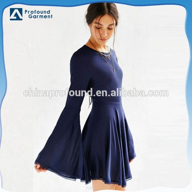 Source deep blue plaid flare ladies western dress designs latest dress designs for ladies new model girl dress 2015 on m.alibaba.com