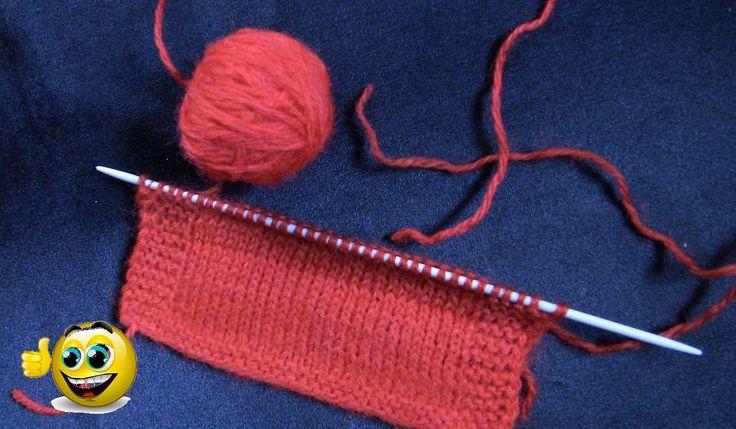 НАДЕЖНО и БЕЗ УЗЛА! Как соединить нити при вязании спицами. Для плотных ...