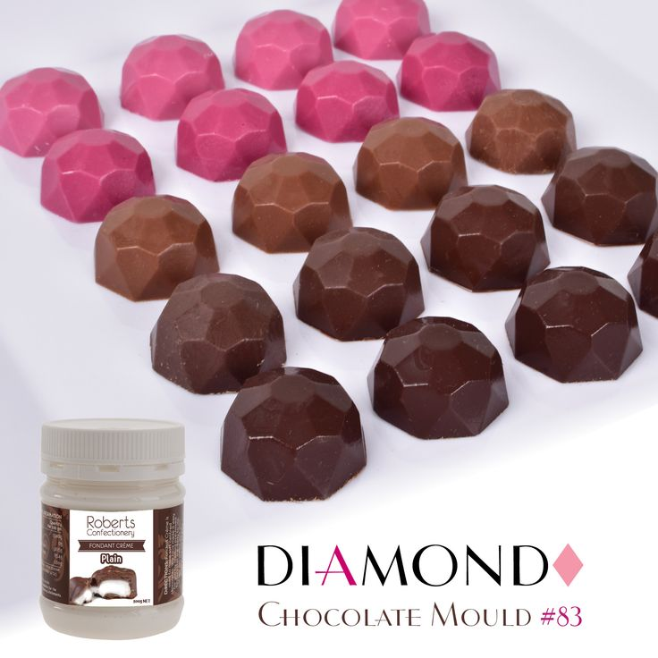 Fill your Diamond Chocolate Mould #83 with delicious plain fondant creme, yum!