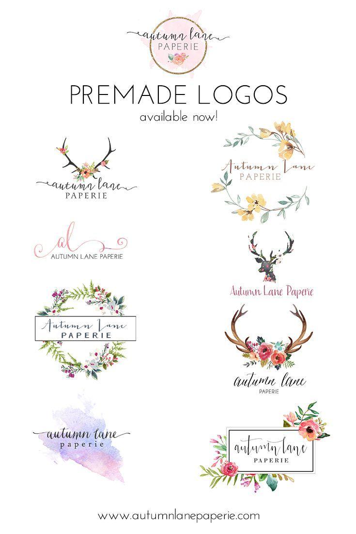 Autumn Lane Paperie | Pre-made Logos | Pre-designed Logos | Business Branding | Brand Identity Services | Website Design | Wordpress Websites | Shabby Chic Logos | Watercolor Logos | Rustic Logos
