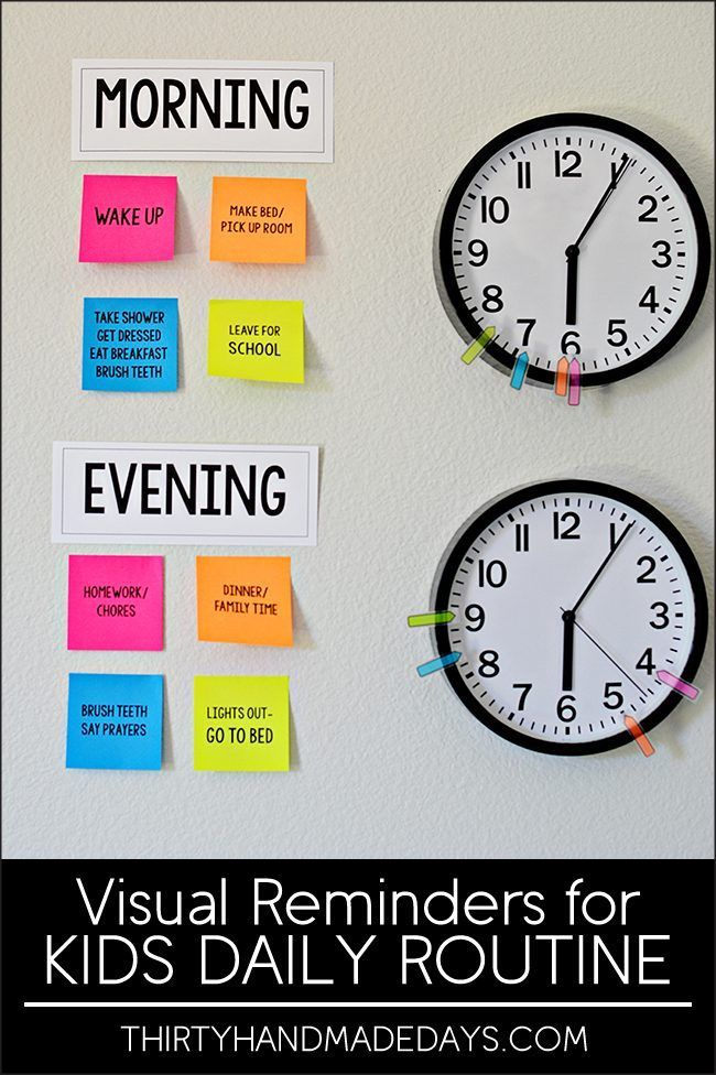 Make your own visual reminders for Kids Daily Routines - perfect for back to school!