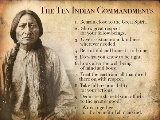 The Ten Indian Commandments