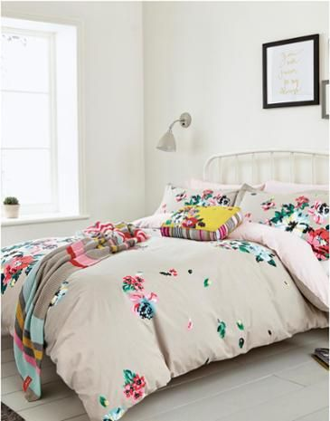 Joules Devito Floral Duvet Cover Light Grey Floral If