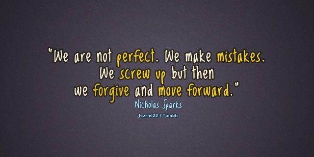 Förlåt dig själv för misstag du gör och gå vidare