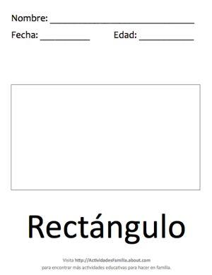 Figuras geométricas básicas para colorear: Rectángulo