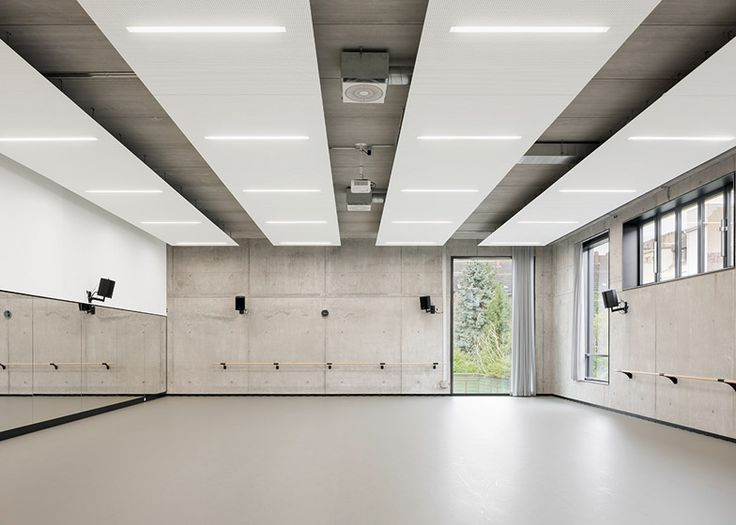 GMP Architekten's ballet facility features industrial materials