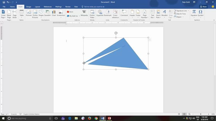 Edit Shape Points and Using Connectors | Microsoft Word 2016 Drawing Too...