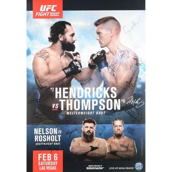 "Fanatics Authentic UFC Fight Night 82 Hendricks vs. Thompson Autographed 27"" x 39"" 24-Signature Event Poster - $149.99"