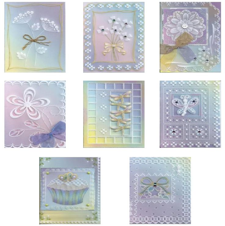 TINA COX - 8 DIDI CARDS & BEGINNER'S GUIDE TO PARCHMENT CRAFT    New! A fantastic new collection of 8 smaller cards from Tina Cox. These are specially designed to give parchment craft beginners a great start to this absorbing and creative pastime.  8 patterns that are easy to follow, full colour photos of the finished cards and a Parchment Craft Techniques Guide.