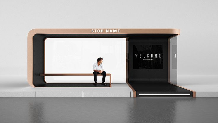 Concept bus stop on Behance