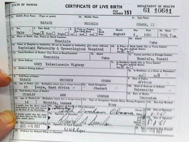 what does a long form birth certificate look like
