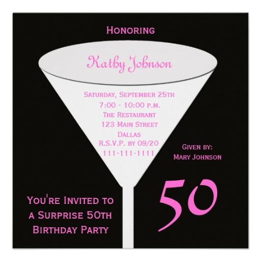 26 best 50th birthday invites images on Pinterest Invitations