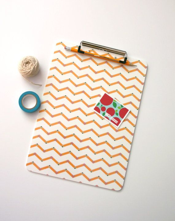 Pencil Chevron Clipboard Teacher Appreciation Gift Idea. Your child's teacher will love to receive something they can use in the classroom! by Flutterbye Prints